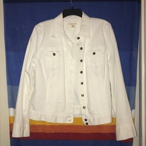 NWT Coldwater Creek white jean jacket, size 16